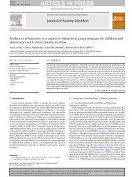 Journal of Anxiety - Institut für Psychologie