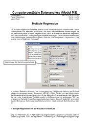 SPSS Handout 2 - Multiple Regression
