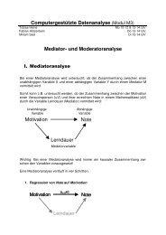 Handout Mediatoranalyse