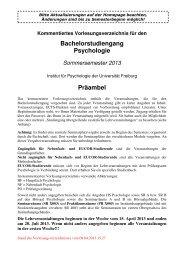 Kommentiertes Vorlesungsverzeichnis BSc SoSe 2013 - Institut für ...