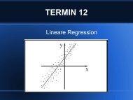 12. Lineare Regression