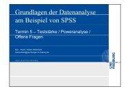 Grundlagen der Datenanalyse g y am Beispiel von SPSS