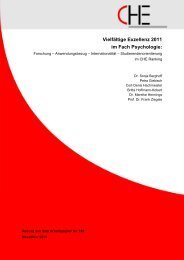 CHE, Nov. 2011 - Institut für Psychologie