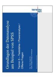 Grundlagen der Datenanalyse am Beispiel von SPSS