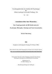 Annahmen über den Menschen. - Institut für Psychologie - Albert ...