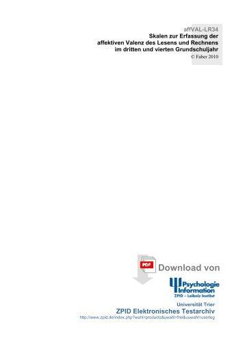 affVAL-LR34 - Institut für Pädagogische Psychologie - Leibniz ...