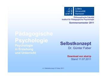 Selbstkonzept 01 - Institut für Pädagogische Psychologie