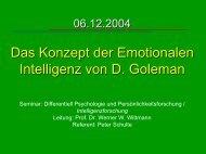 Emotionale Intelligenz - Psychologie