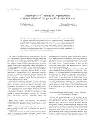 Effectiveness of Training in Organizations: A Meta ... - Psychologie
