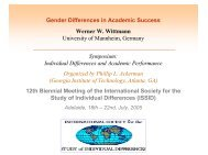 Gender Differences in Academic Success Werner W ... - Psychologie