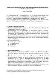 § 1 Art und Zweck der Promotion - Psychologie - Universität Mannheim