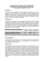 Fachspezifische Anlage für das Wahlpflichtfach ... - Psychologie