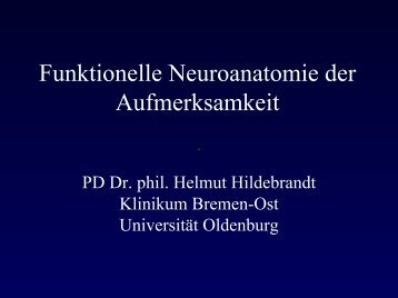 Funktionelle Neuroanatomie der Aufmerksamkeit - Universität ...