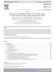 ARTICLE IN PRESS - Department für Psychologie