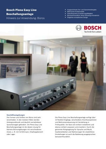 Büros - Bosch Security Systems