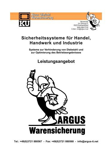 Leistungsangebot - bei ARGUS Warensicherung