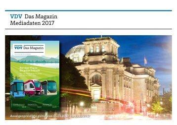 Mediadaten VDV – Das Magazin 2017