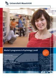 Master's programme in Psychology | 2008 - Psychology and ...