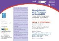 Giornata Mondiale per la Prevenzione del Suicidio ... - Psychomedia