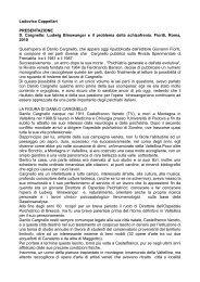 Presentazione a Ludwig Binswanger e il problema ... - Psychomedia