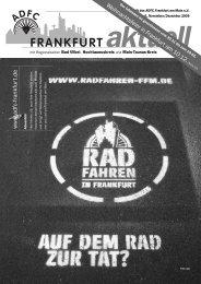 Frankfurt aktuell - Ausgabe 6 (November ... - ADFC Frankfurt
