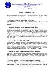 attivita' formativa 2012 - Psychomedia
