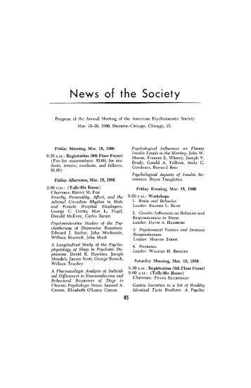News of the Society - Psychosomatic Medicine