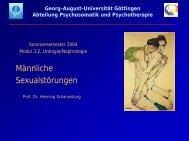 Männliche Sexualstörungen - Psychosomatik & Psychotherapie ...