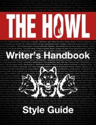 The Howl Writer's Handbook & Style Guide