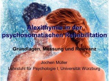Alexithymie in der psychosomatischen Rehabilitation - Abteilung für ...