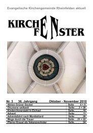 Gemeindebrief Oktober / November 2010 - Evangelische ...