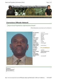 Corrections Offender Network - PsychSearch