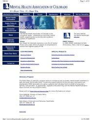 Colorado - PsychSearch