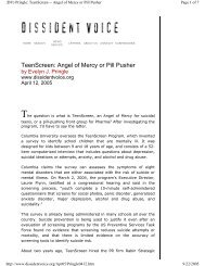 TeenScreen: Angel of Mercy or Pill Pusher - PsychSearch