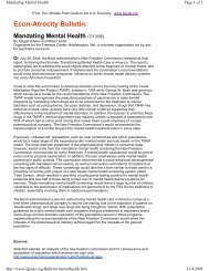 Econ-Atrocity Bulletin: Mandating Mental Health - PsychSearch