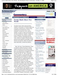 Forum: Bush's Brave New World - PsychSearch