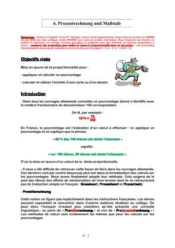 6. Prozentrechnung und Maßstab - Académie de Strasbourg