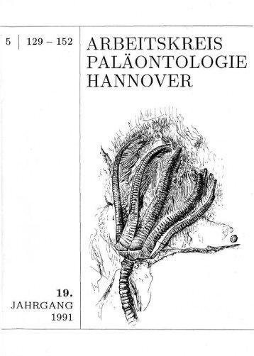 5 - Arbeitskreis Paläontologie Hannover