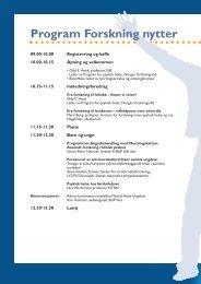 Program Forskning nytter - RÃ¥det for psykisk helse