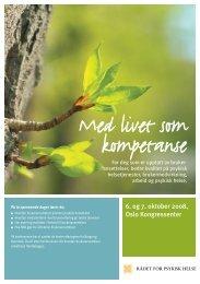Med livet som kompetanse - RÃ¥det for psykisk helse
