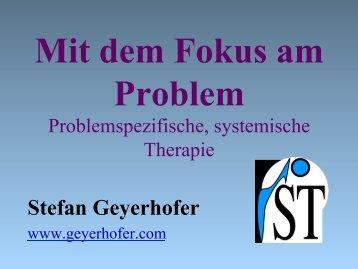 Problemspezifische Therapie - Psyseminare