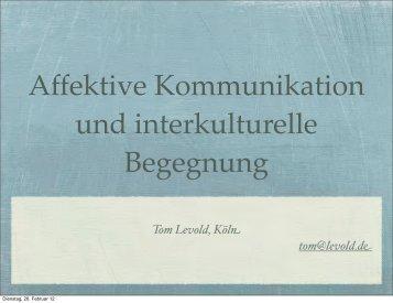 Affektive Kommunikation und interkulturelle ... - PsySeminare