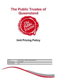 Our Vision - The Public Trustee - Queensland Government