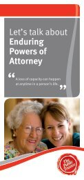 Let's talk about Enduring Powers of Attorney - The Public Trustee