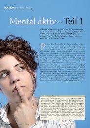 Mental aktiv – Teil 1 - Die PTA in der Apotheke