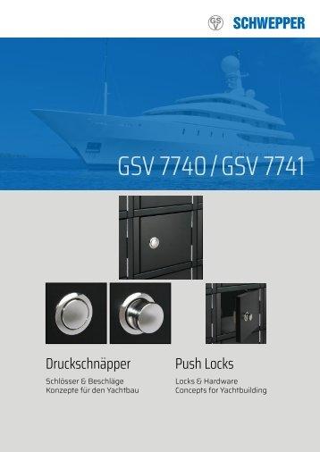 Broschüre Druckschnäpper GSV 7740/7741 /  Leaflet Push Locks GSV 7740/7741 - Schwepper