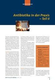 Antibiotika in der Praxis – Teil II - Die PTA in der Apotheke