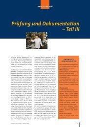Prüfung und Dokumentation – Teil III - Die PTA in der Apotheke