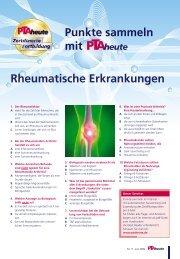 Punkte sammeln mit Rheumatische Erkrankungen - PTAheute