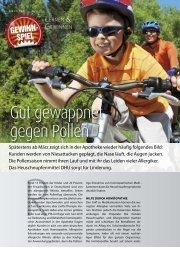 Gut gewappnet gegen Pollen - PTAheute